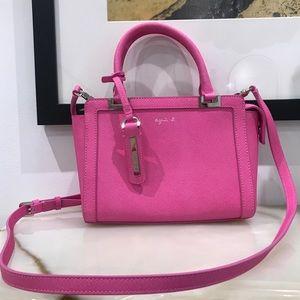 Agnès B Voyage pink purse